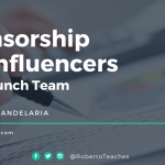 Sponsorship for Influencers - Roberto C. Candelaria